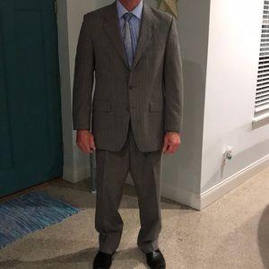 Ralph Lauren 44L grey pinstriped suit